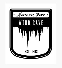 Wind Cave National Park South Dakota Badge Design Photographic Print