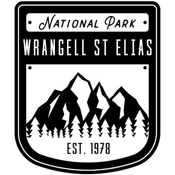 Wrangell St Elias National Park Alaska Badge Design by nationalparks