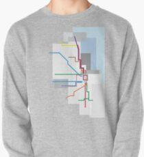 Chicago Transit Map Lake Pullover Sweatshirt