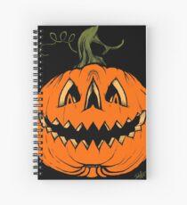 Grim Grinning Gourd Spiral Notebook