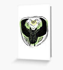 Flying Bat Greeting Card