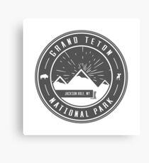 Grand Teton National Park Logo Canvas Print