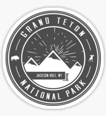 Grand Teton National Park Logo Sticker