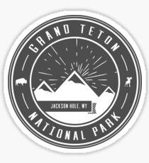 Grand Teton National Park Logo Sticker