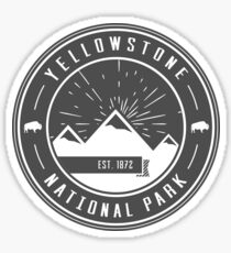 Yellowstone National Park Logo Sticker