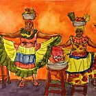 Cartagena Fruit Vendors  by Randy Sprout