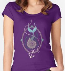 Mermaid Shell Women's Fitted Scoop T-Shirt