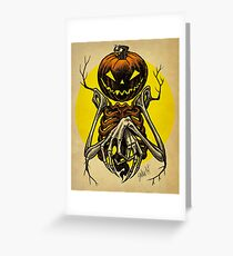 Autumn People 7: Pumpkin Greeting Card