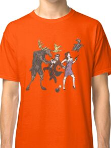 Moose and Squirrel Fight Crime Classic T-Shirt