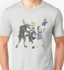 Moose and Squirrel Fight Crime T-Shirt