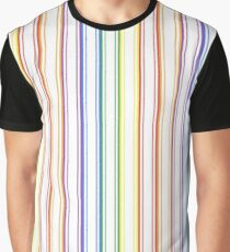 Split Rainbow Mattress Ticking Wide Stripes Pattern Graphic T-Shirt