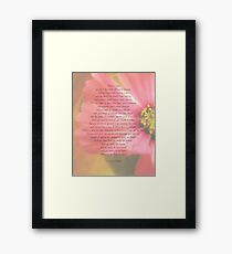 After A While Poem with Flower Background Framed Print