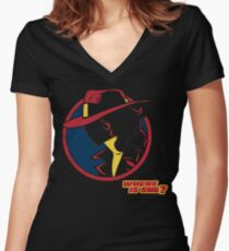 Travel Agent Women's Fitted V-Neck T-Shirt