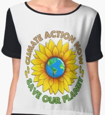 People's Climate Change March on Washington Justice 2017 Chiffon Top