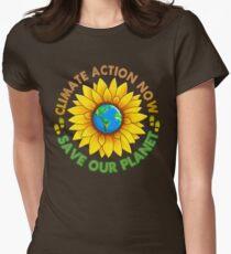 Camiseta entallada para mujer Marcha del cambio climático popular en Washington Justice 2017