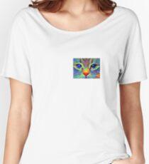 Art cat face Women's Relaxed Fit T-Shirt