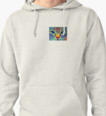 Art cat face Pullover Hoodie