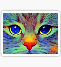 Art cat face Sticker