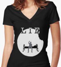 Jimin Lie  Art Women's Fitted V-Neck T-Shirt