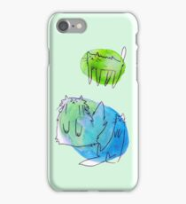 Goofy Watercolor Cats iPhone Case/Skin