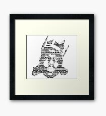 Biggie It Was All A Dream (White) Framed Print