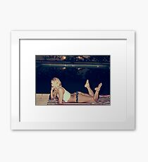 American Blonde Beauty 9267 Framed Print