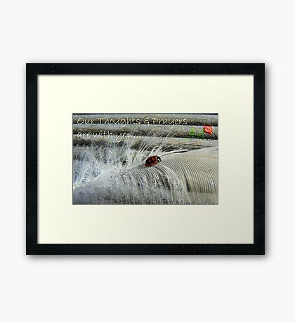 Our Thoughts & Prayers Are With You....NZ Framed Print