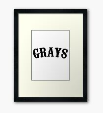 HOMESTEAD GRAYS SHIRT NEGRO LEAGUES  Framed Print