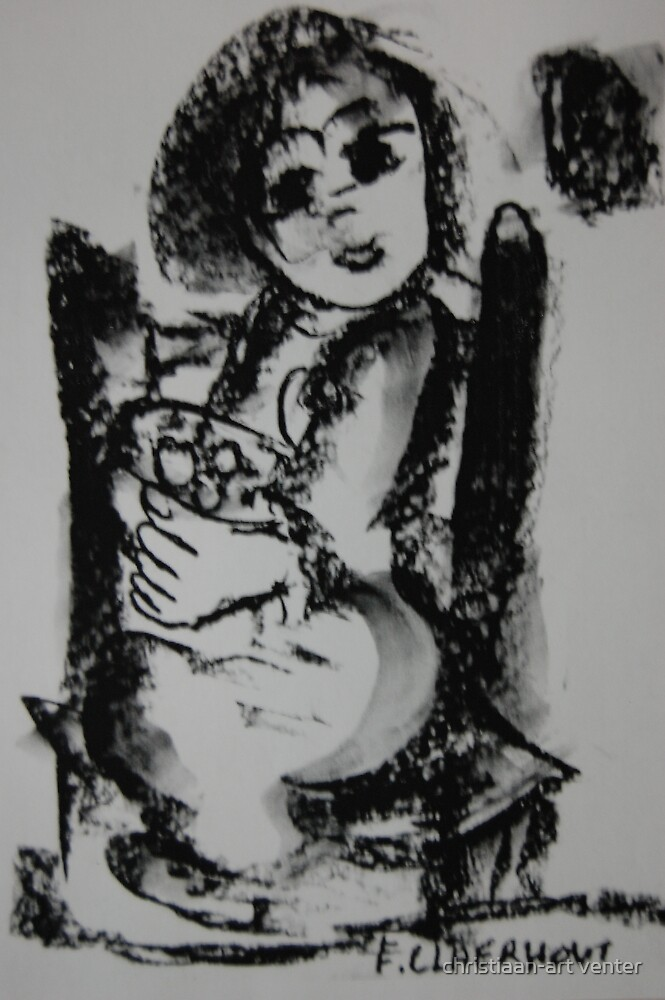 Woman in chair by christiaan-art venter