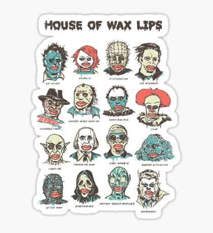 House Of Wax Lips Sticker