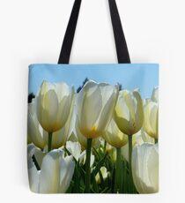 Heaven On Earth! - White Tulips - Rural New Zealand Tote Bag
