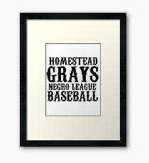 HOMESTEAD GRAYS T-SHIRT NEGRO LEAGUES BASEBALL Framed Print