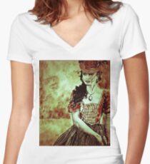 Katherine Petrova Pierce  Women's Fitted V-Neck T-Shirt