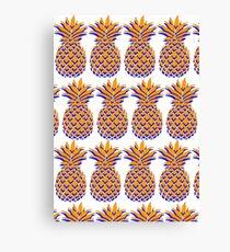 Orange & Blue Pineapple 2 Canvas Print