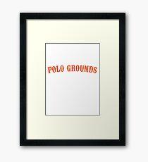 polo grounds new york shirt coogans bluff giants Framed Print