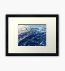 Bright Blue Ocean Framed Print
