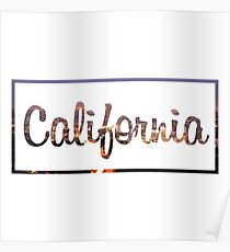 America California View Text Poster