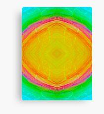 Psychedelic Sunburst - Bright Yellow & Green Canvas Print