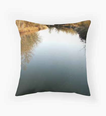 River for a canoe! Throw Pillow