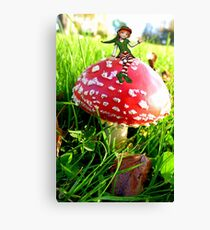 Make A Wish It Can Come True! - Mushroom & Elf Canvas Print
