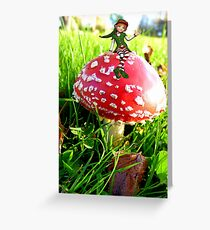 Make A Wish It Can Come True! - Mushroom & Elf Greeting Card
