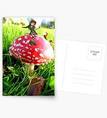 Make A Wish It Can Come True! - Mushroom & Elf Postcards