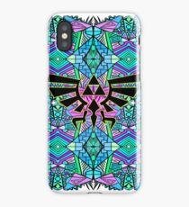 Hylian Royal Crest - Legend Of Zelda - Pattern Blue iPhone Case