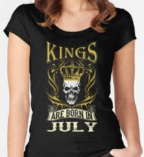 Kings Are Born In July Tshirt T-Shirt  Women's Fitted Scoop T-Shirt