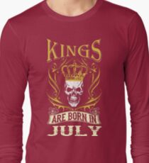 Kings Are Born In July Tshirt T-Shirt  Long Sleeve T-Shirt