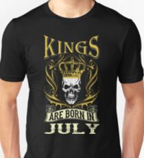 Kings Are Born In July Tshirt T-Shirt  Unisex T-Shirt