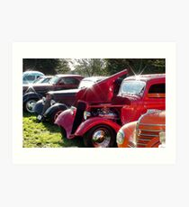 Hot Rods Shine And Sparkle - Hot Rod Club Vehicle Display - NZ Art Print