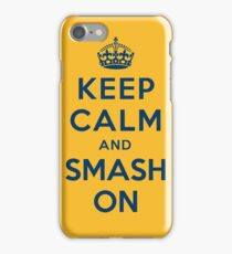 Nashville Predators - Keep Calm (blue on gold) iPhone Case/Skin
