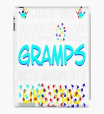 Awesome Gramps Gets Handprints Like This Autism T-Shirt  iPad Case/Skin