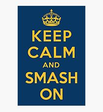 Nashville Predators - Keep Calm (gold on blue) Photographic Print